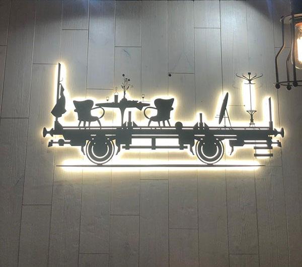 Арт-объект оформления ресторана