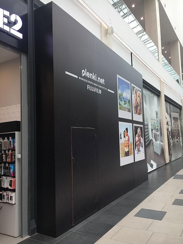 Брендинг фасада магазина перед открытием