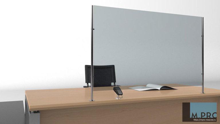 Плоский экран, с каркасом. Прозрачный акрил, толщина 5 мм