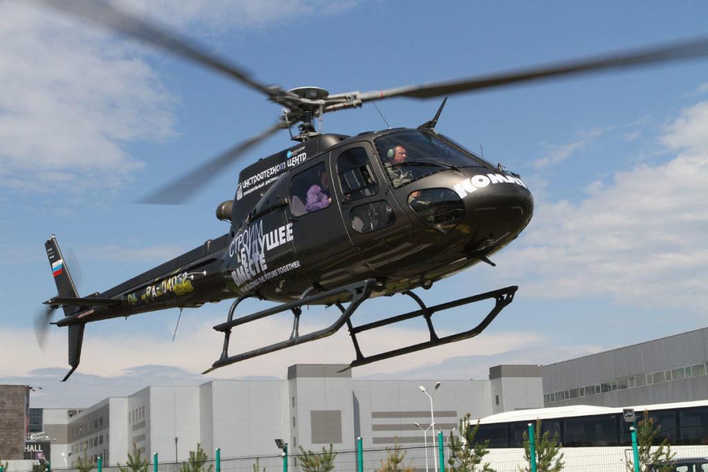 Аппликация на вертолет из пленки