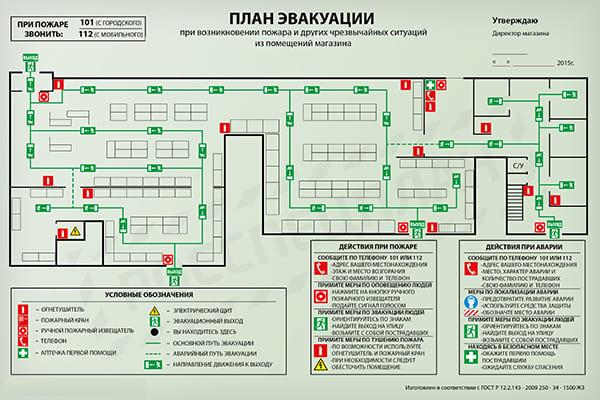 Изготовления плана эвакуации