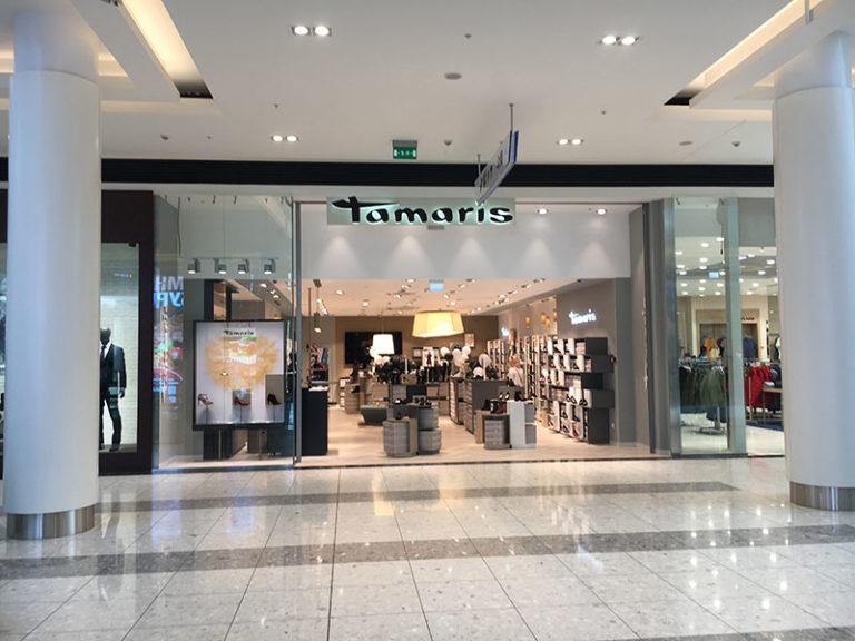 Вывеска магазина обуви Tamaris