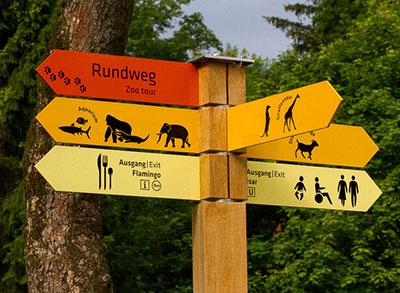 Пример навигации в парке